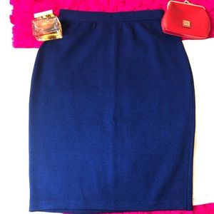 St. John evening royal blue pencil skirt